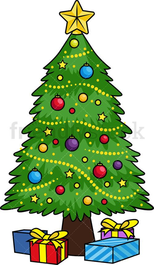 2-decorated-christmas-tree-cartoon-clipart-500x858