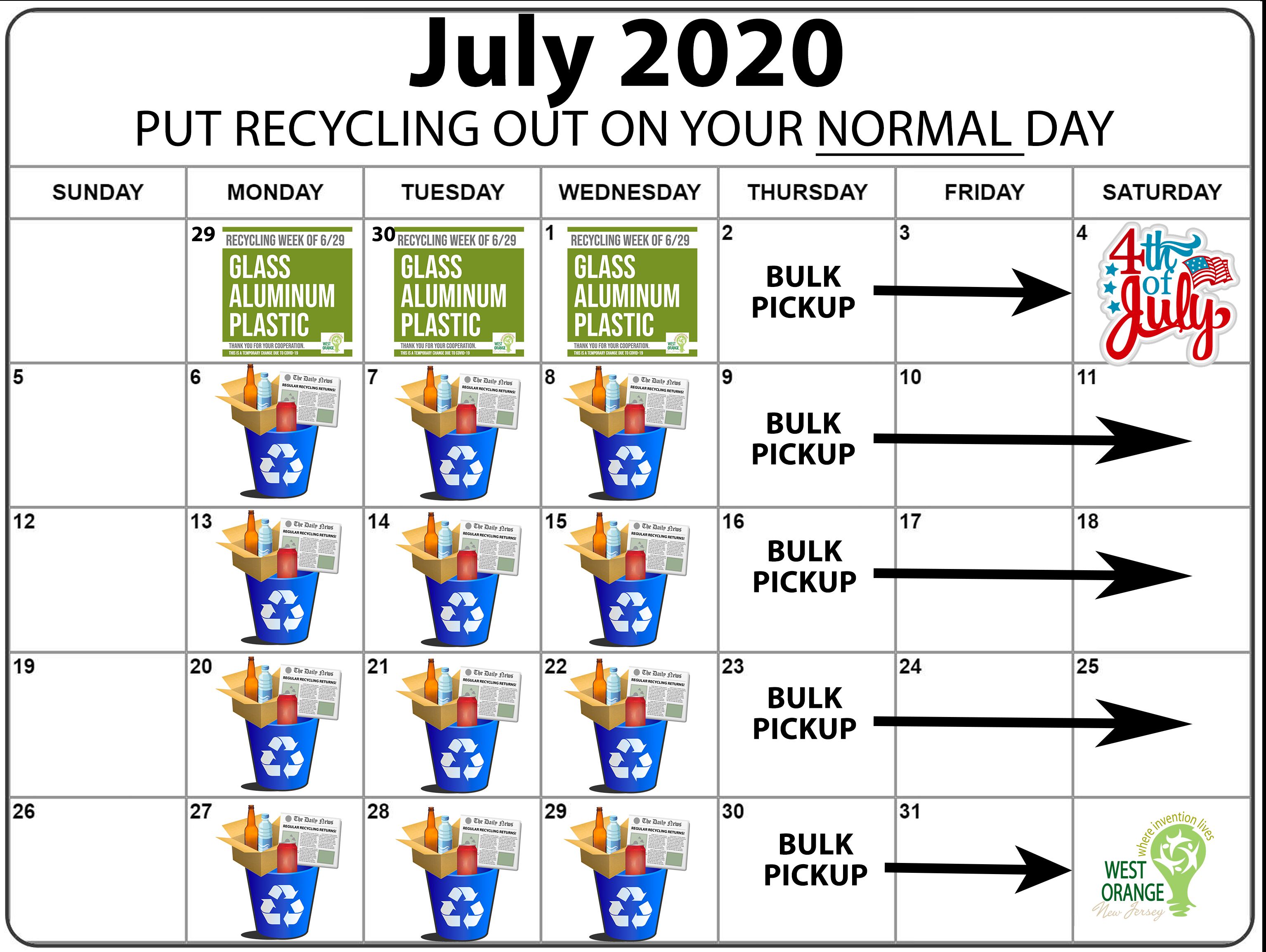 July 2020 WO Recycling