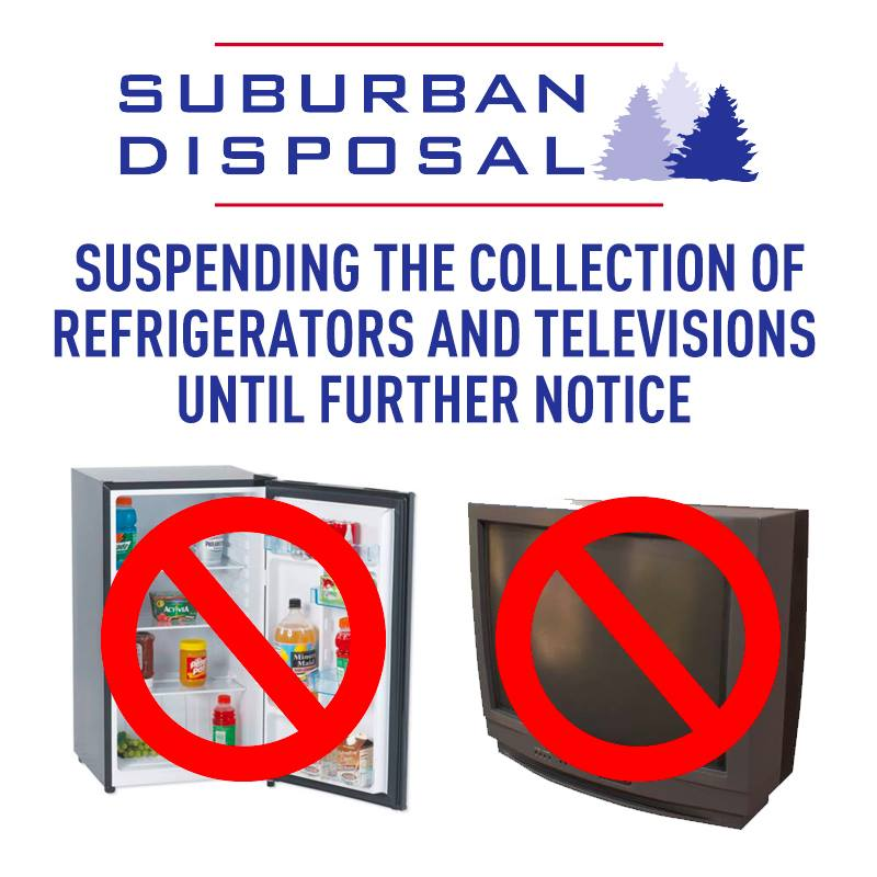 Suspension Refrig or TVs